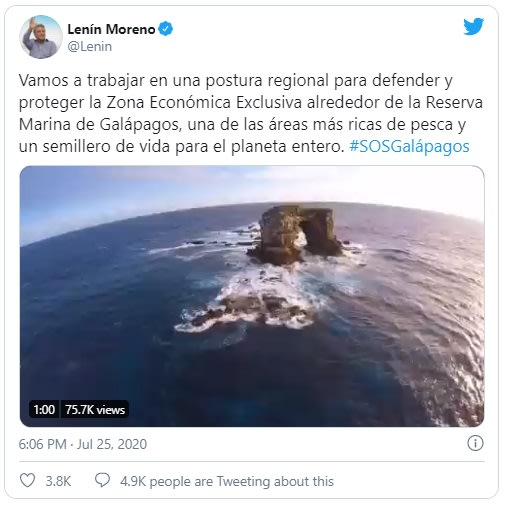 Archivado como: Armada de Ecuador en 'alerta' por flota china rondando Islas Galápagos
