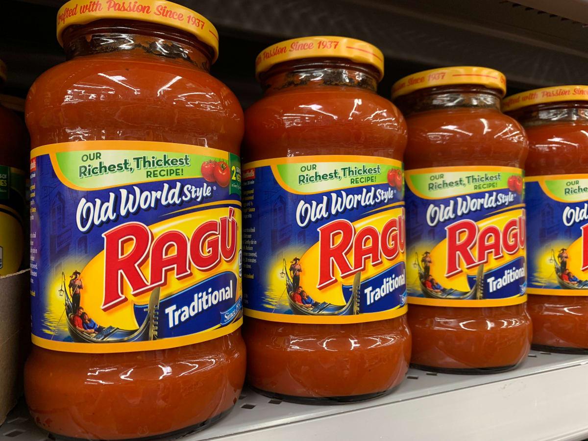 recall ragú salsa pasta