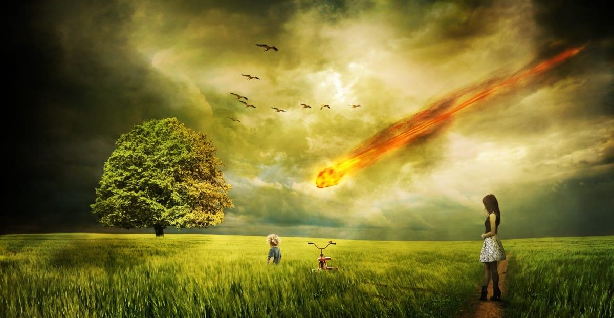 Meteorito. alerta asteroide