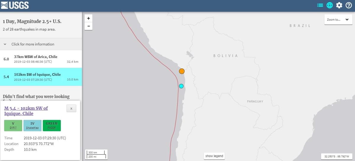 sismo 6.0 chile