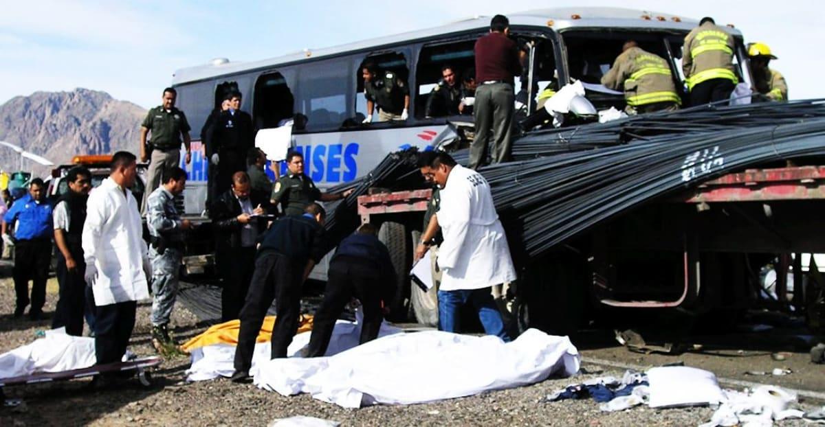 México accidente de autobús
