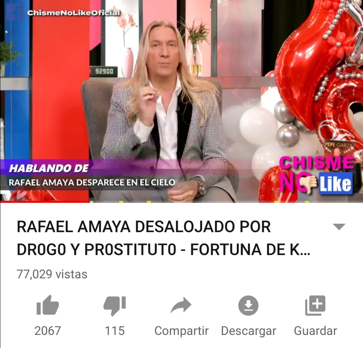 Rafael Amaya desaparecido
