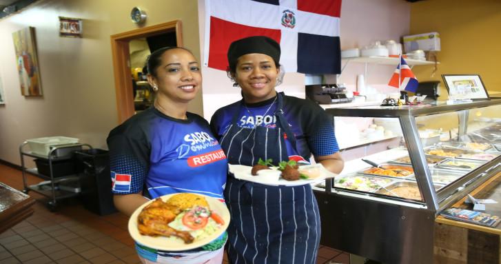 Martha Torres y Judith Ozuna de Sabor Dominicano