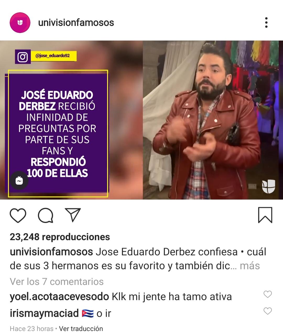 José Eduardo Derbez hijo de Eugenio Derbez