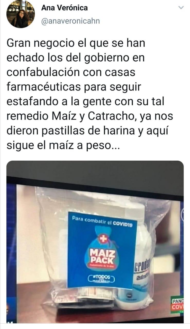 Cura maiz coronavirus Honduras Covid-19 Catracho