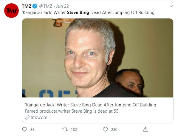 Fallece productor Steve Bing al tirarse de un edificio