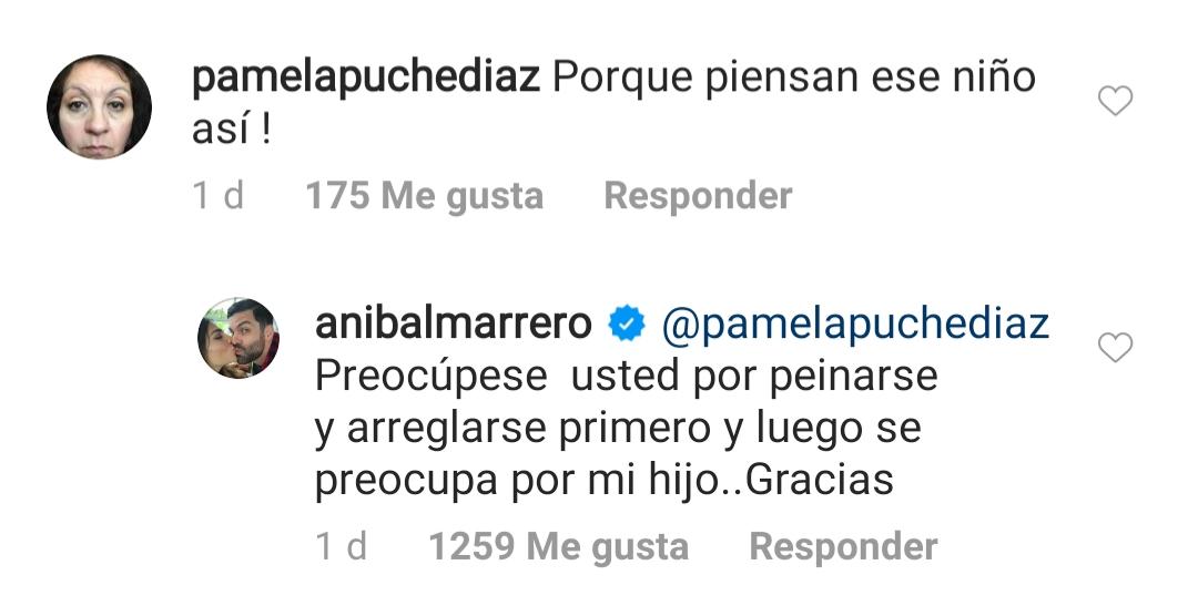 Critican a hijo de Alejandra Espinoza y su esposo Aníbal Marrero estalla