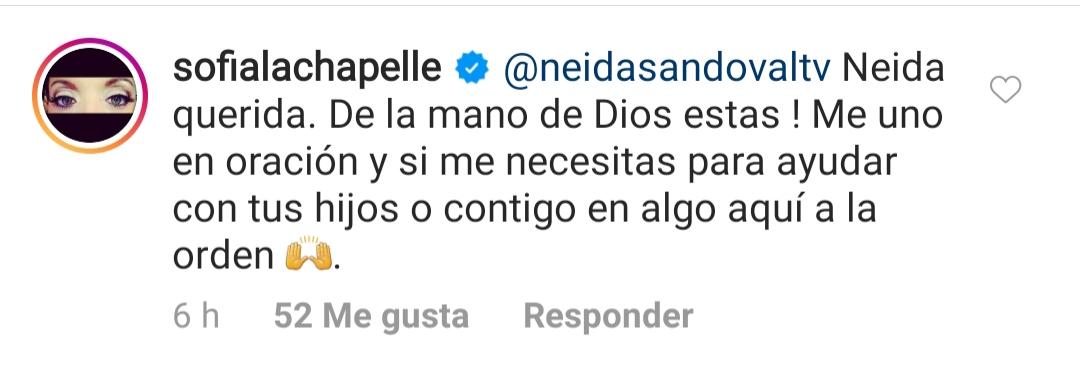Neida Sandoval revela que su esposo está en el hospital