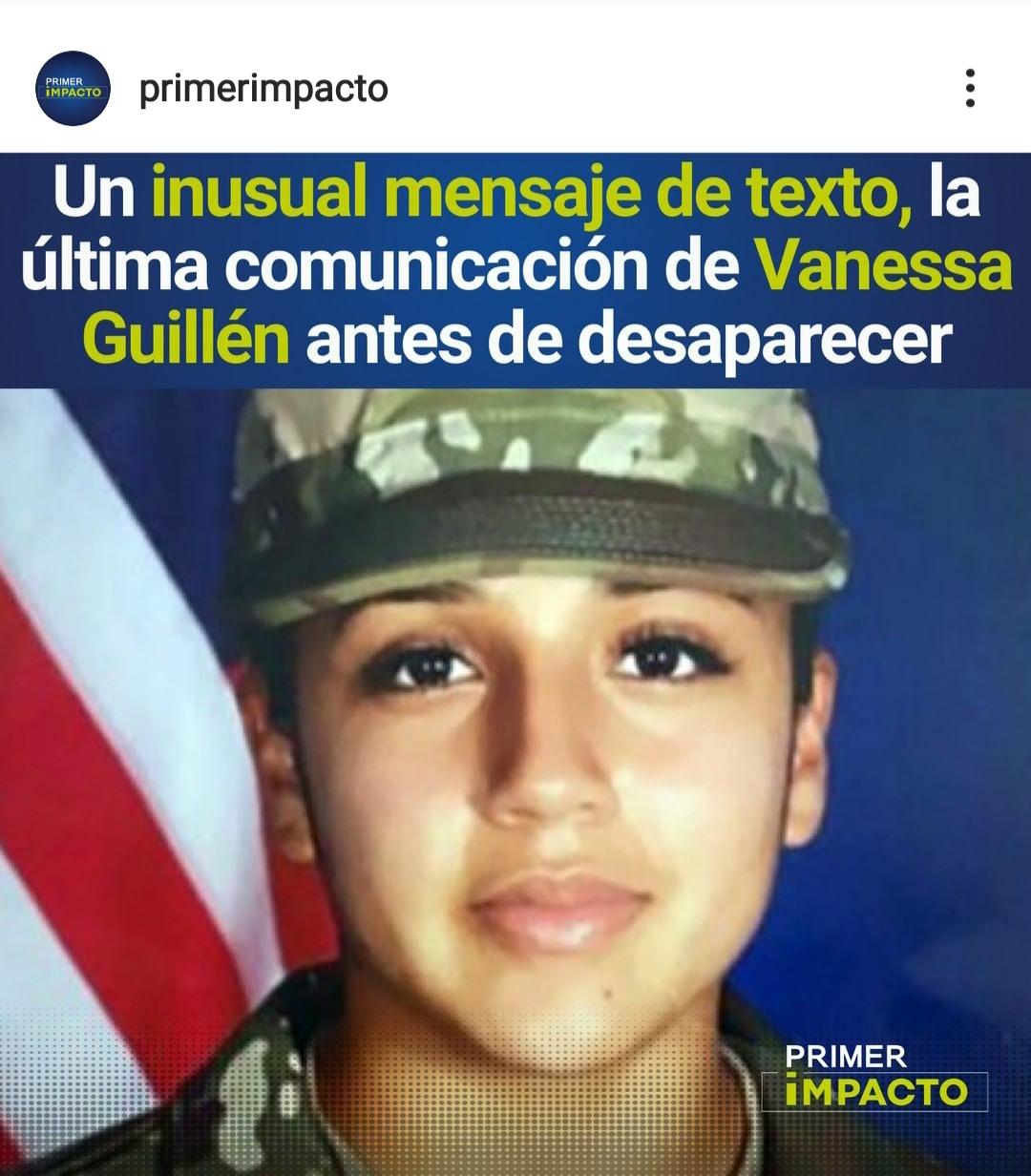 Se filtra último mensaje de texto que envió Vanessa Guillén