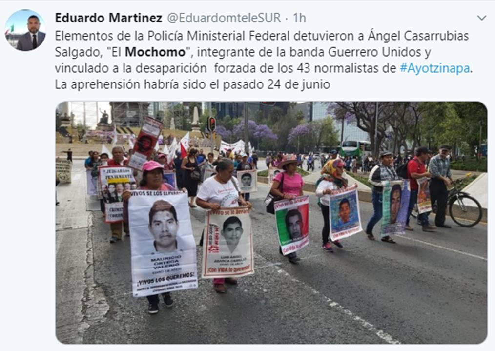 José Ángel Casarrubias Salgado Archivado como: 43 estudiantes de Ayotzinapa