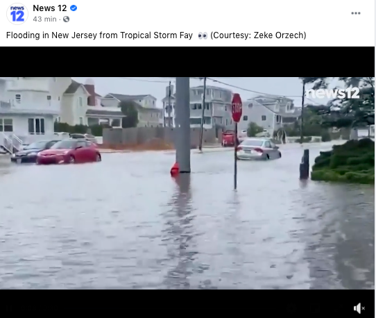 Tormenta tropical Fay golpeará tres estados del noreste de EE.UU. provocando inundaciones