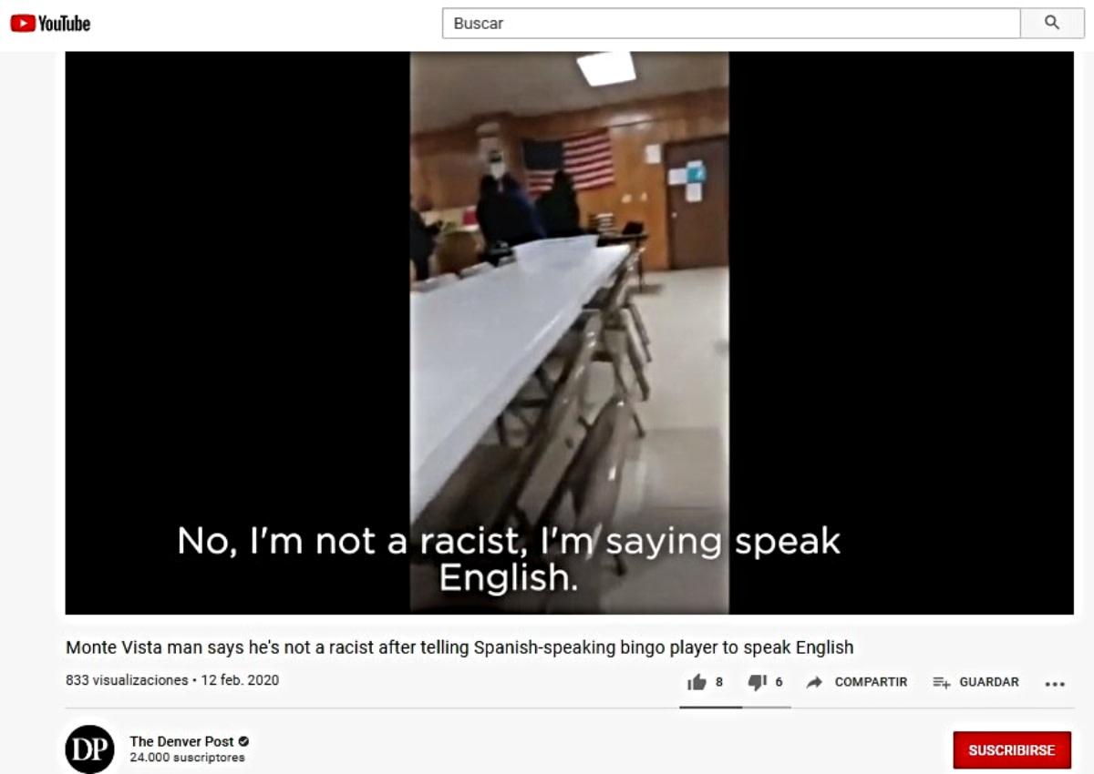 Escándalo en el bingo: Exigió a mexicana hablar inglés (VIDEO)
