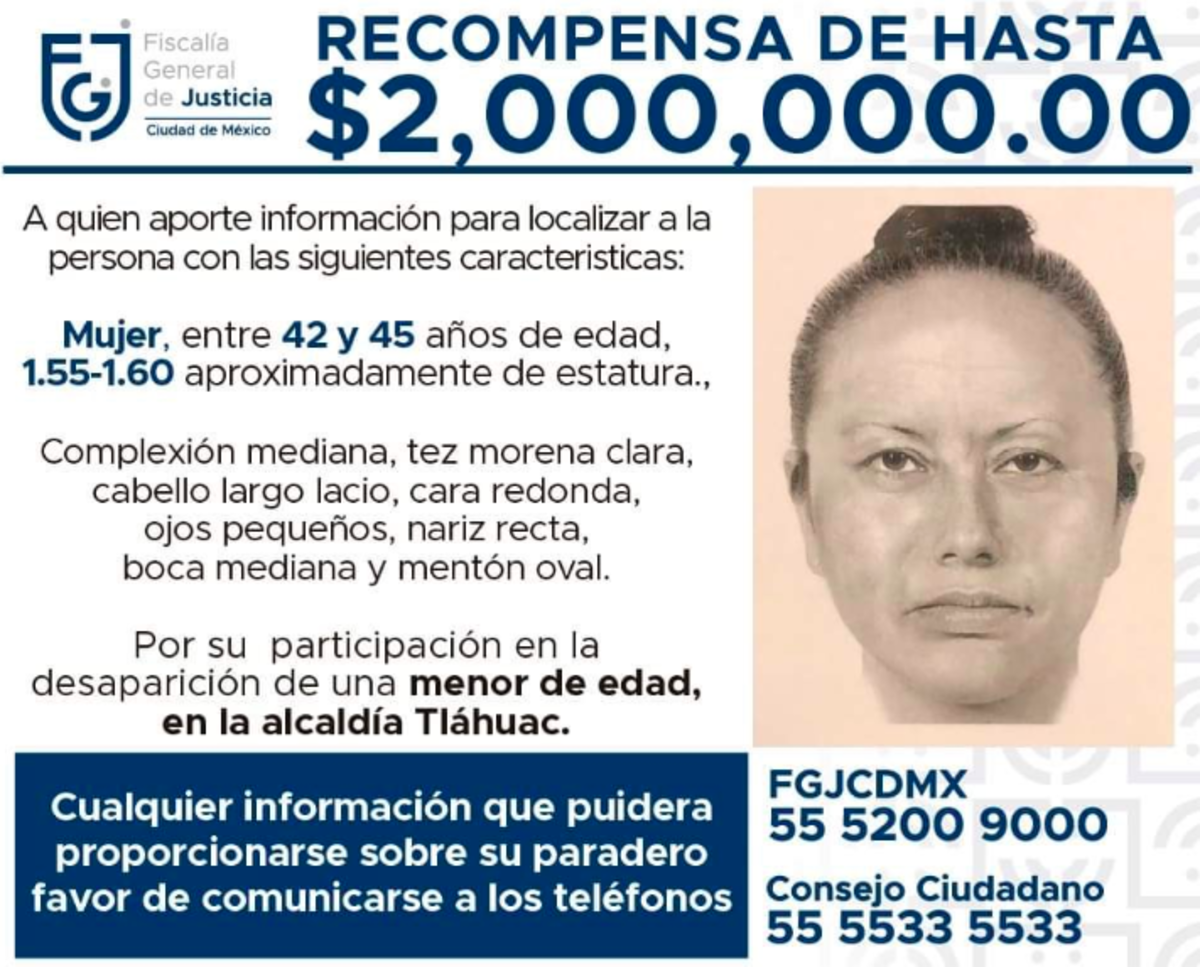 Fátima: Difunden retrato hablado de mujer que se llevó a la niña