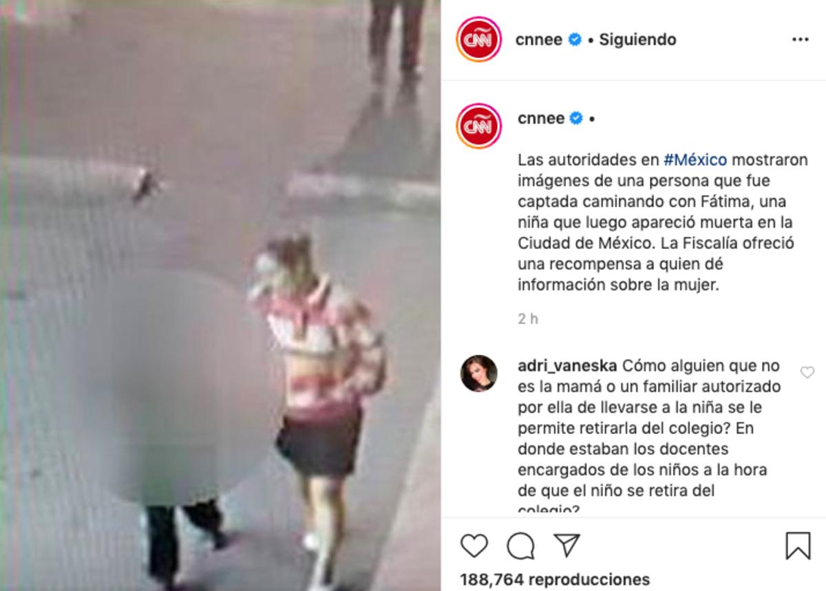 Niña Fátima: Difunden retrato hablado de mujer que se llevó a la menor