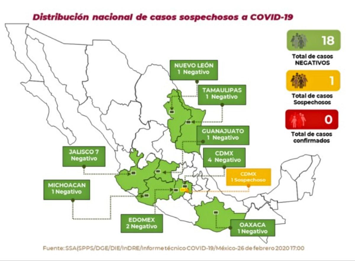 Coronavirus en CDMX: Reportan nuevo caso sospechoso