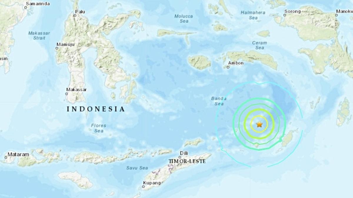 Potente sismo 6.9 Indonesia