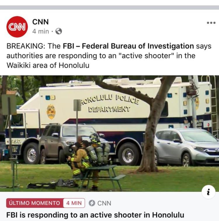 Tiroteo muertos Honolulu