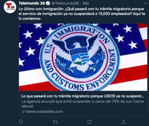 USCIS cancela despidos