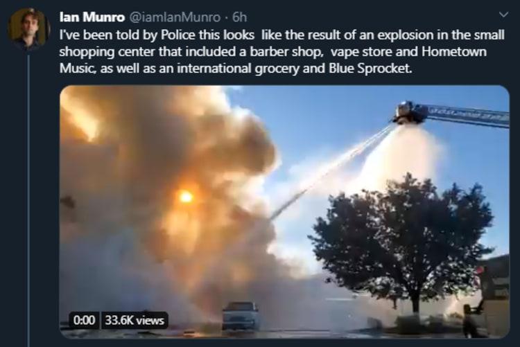 Explosión Virginia Centro Comercial