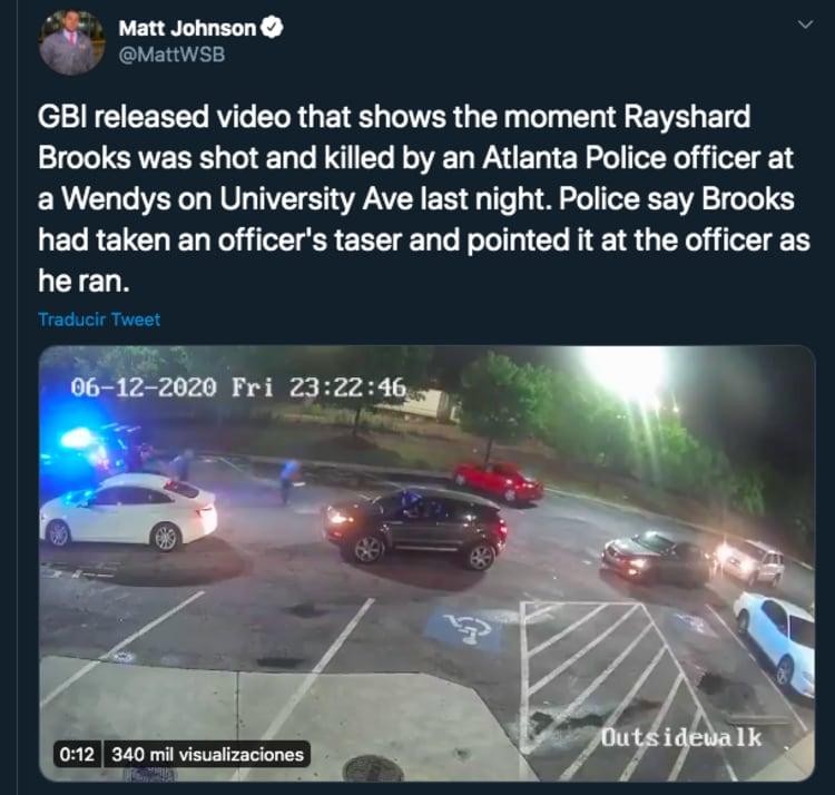 asesinato de Rayshard Brooks jefa policía Atlanta Erika Shields