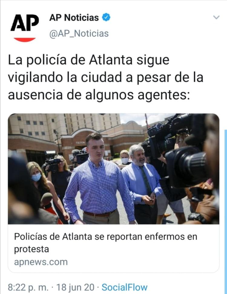 Policías enfermos Atlanta