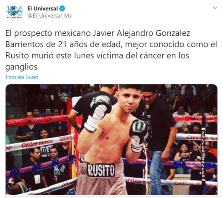 Fallece joven boxeador mexicano víctima del cáncer