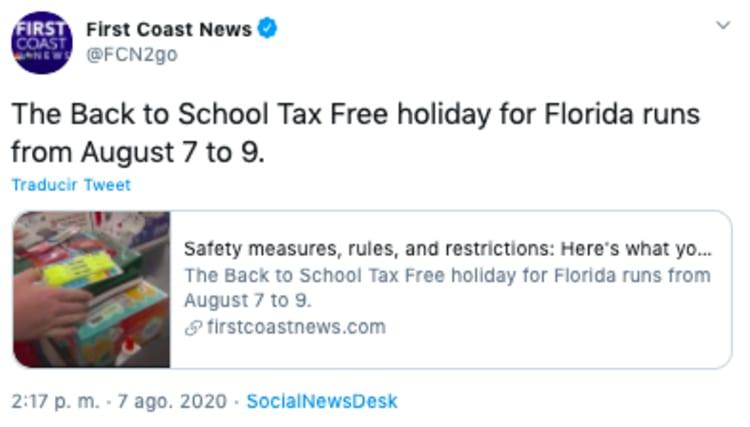 Tax free Florida: hoy comienza el fin de semana libre de impuestos