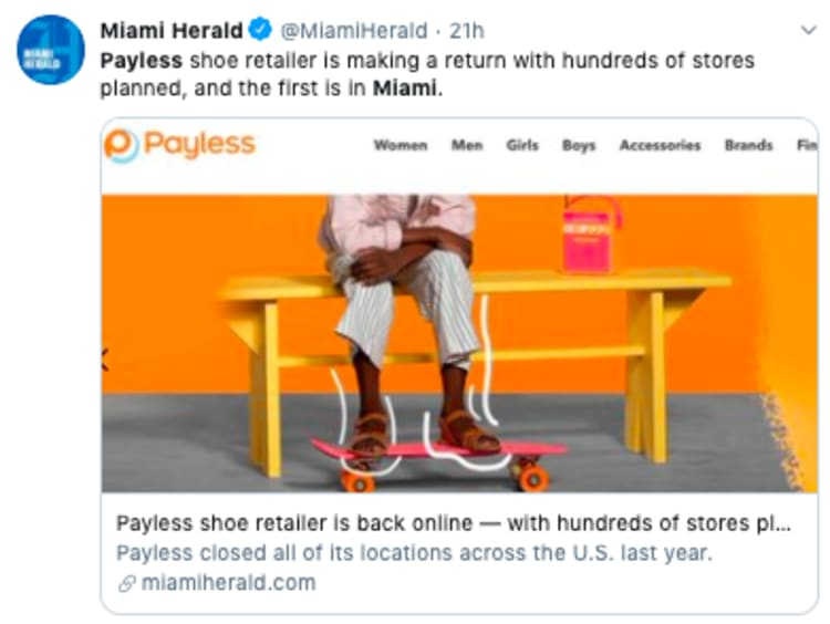 Payless Miami anuncia apertura de tienda en Florida tras bancarrota