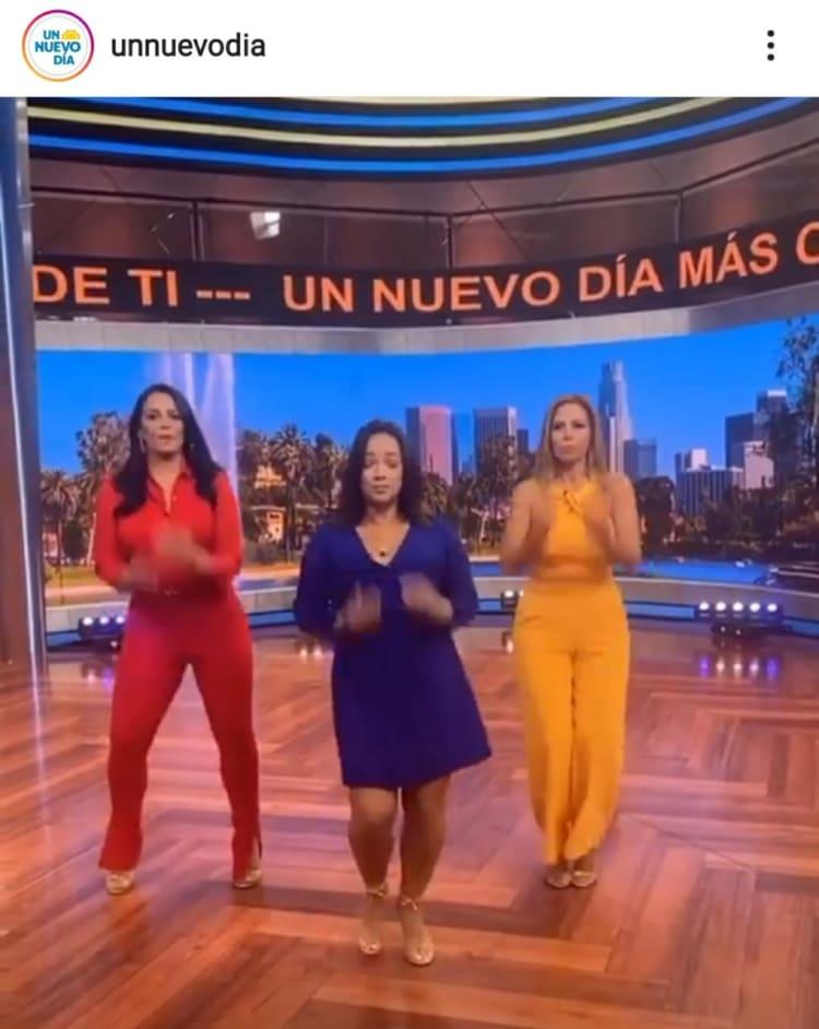 Adamari López widens again with a dress that makes her look caderona Un Nuevo Día La Chiquibaby