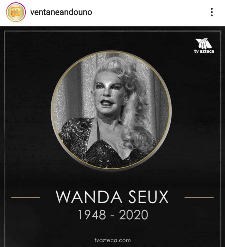 Muere la vedette Wanda Seux a los 72 años de edad