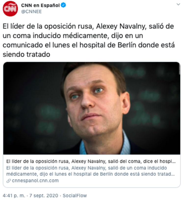 Opponent Navalny comes out of induced coma according to German hospital