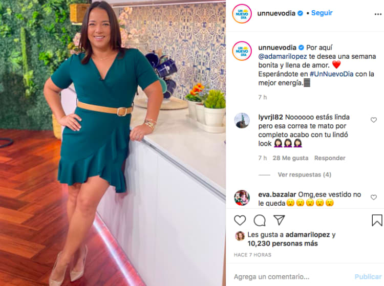 Adamari López belly, A New Day (Instagram)
