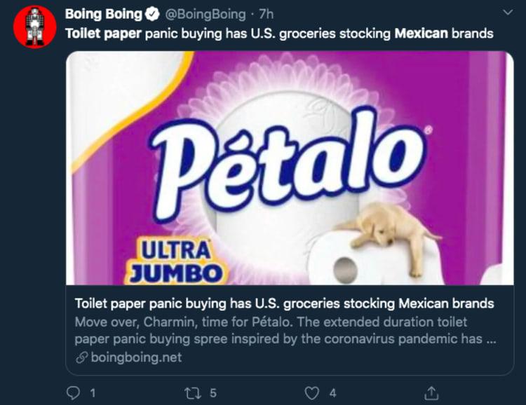 Pétalo Charmin papel higiénico mexicano
