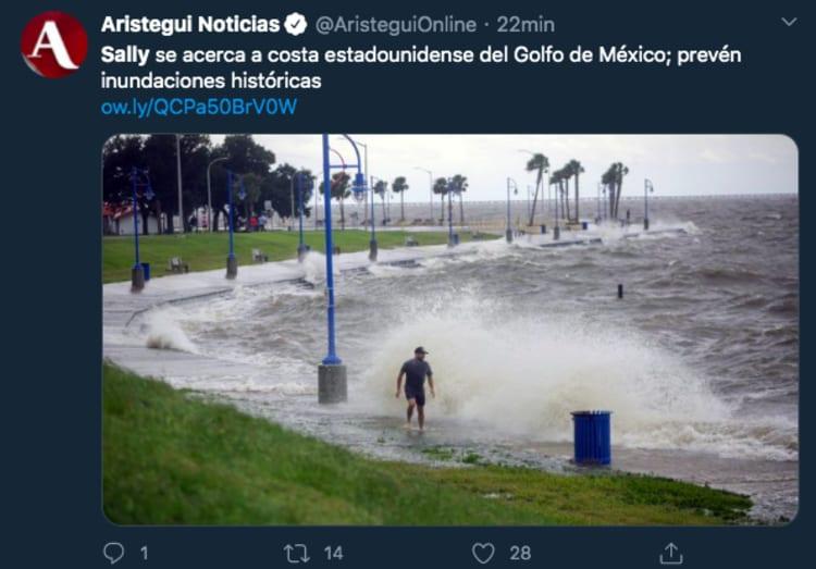 Sally Golfo de México