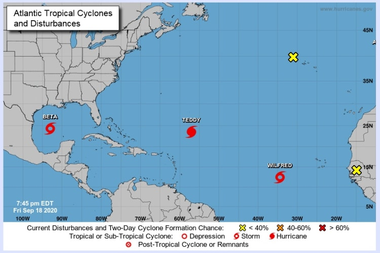 UNUSUAL!  The names of the list of Atlantic storms are finished and they use the Greek alphabet