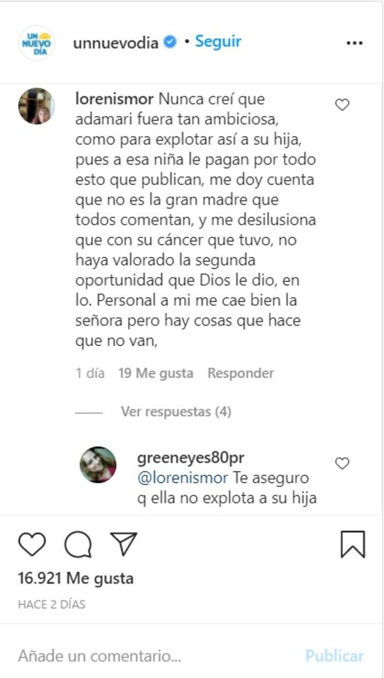 They criticize her!  Adamari Lopez