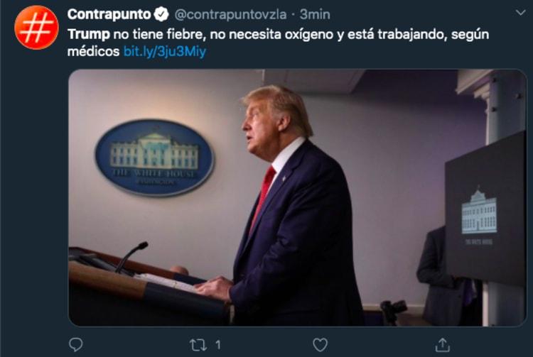 Trump tweet coronavirus hospital