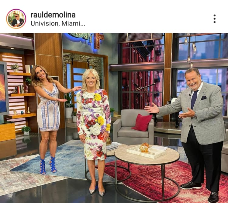 Lili Estefan sale a defender a Raúl de Molina por visita de Jill Biden a El gordo y la flaca