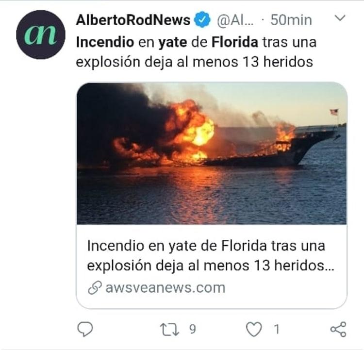 Explosión yate Florida incendio 1