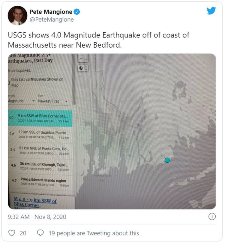 sismo Massachusetts