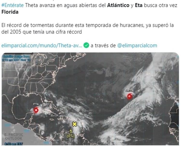 Tormenta Tropical Eta Atlántico 1