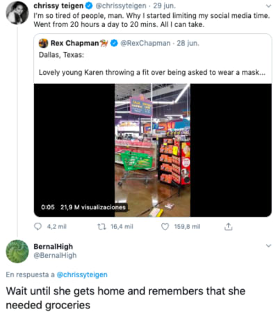 Texas: Hispano graba cuando mujer estalla luego de que le pidieran usar mascarilla en supermercado