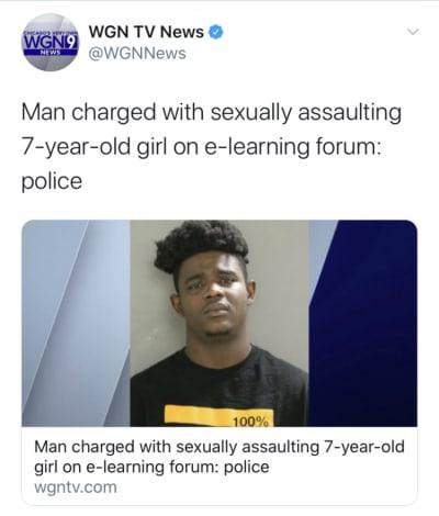 Niña de siete años agredida sexualmente durante clases en línea y maestro fue testigo