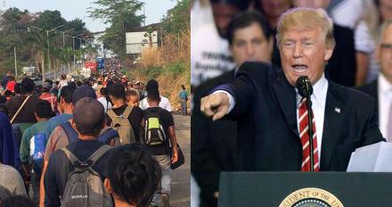"""Trump avisa que detendrá caravana que viene con """"mala gente"""""""