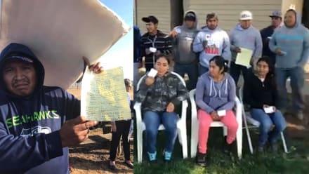 Jornaleros hispanos paralizan fábrica en protesta por malos tratos y explotación (VIDEO)