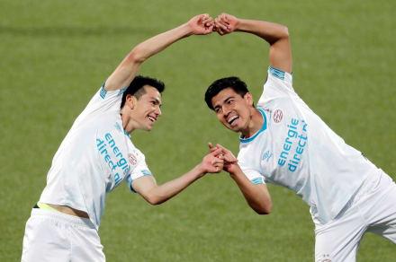 """Erick Gutiérrez debuta en el PSV con asistencia al """"Chucky"""" y golazo"""