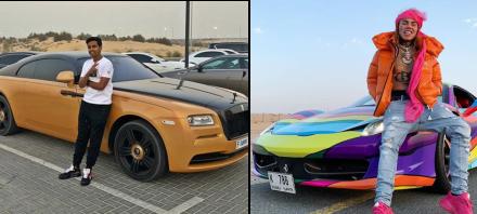 ¿Quién gana esta batalla de autos? Adolescente millonario vs. rapero latino