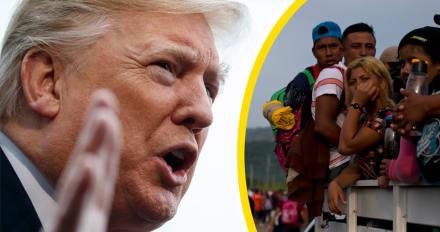 Trump reacciona luego de que nueva caravana de migrantes partiera desde Honduras