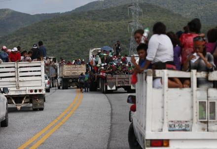 Caravana migrante abandona Ciudad de México; parte rumbo a Tijuana, Baja California (VIDEO)