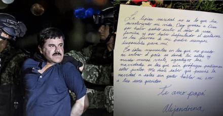 Hija del Chapo Guzmán le dedica emotiva carta navideña (FOTO)